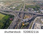 busy highway from aerial view.... | Shutterstock . vector #520832116