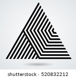 vector hipster triangle... | Shutterstock .eps vector #520832212