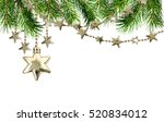 christmas garlands with stars... | Shutterstock . vector #520834012