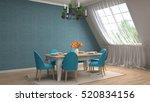 interior dining area. 3d... | Shutterstock . vector #520834156