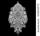 indian floral paisley medallion ...   Shutterstock .eps vector #520834972