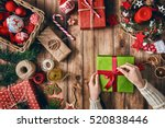 merry christmas and happy... | Shutterstock . vector #520838446