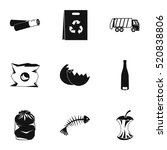 trash icons set. simple... | Shutterstock .eps vector #520838806