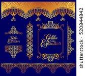 set of floral golden eastern...   Shutterstock .eps vector #520844842