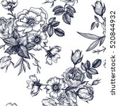 vintage vector floral seamless... | Shutterstock .eps vector #520844932