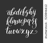 black and white hand lettering... | Shutterstock .eps vector #520846612