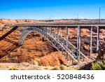 bridge at glen canyon dam | Shutterstock . vector #520848436