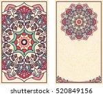 set of wedding invitations or... | Shutterstock .eps vector #520849156