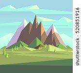 snow rock mountains landscape... | Shutterstock .eps vector #520851916
