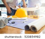 architect concept  architects... | Shutterstock . vector #520854982