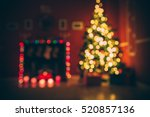 christmas holiday background... | Shutterstock . vector #520857136