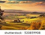 maremma  rural sunrise... | Shutterstock . vector #520859908