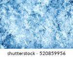 macro shot from snowflake.... | Shutterstock . vector #520859956