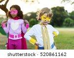 superheroes cheerful kids... | Shutterstock . vector #520861162