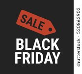 black friday sale vector... | Shutterstock .eps vector #520862902