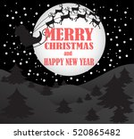 new year and merry christmas... | Shutterstock .eps vector #520865482