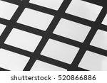mockup of white gift plastic... | Shutterstock . vector #520866886