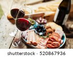 Red Wine Charcuterie Assortment Background - Fine Art prints