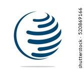 globe logo template for... | Shutterstock .eps vector #520869166