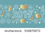 new year 2017 geometric style... | Shutterstock .eps vector #520870072