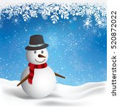 merry christmas text on paper...   Shutterstock .eps vector #520872022