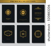 set of gold emblems. collection ... | Shutterstock .eps vector #520883206
