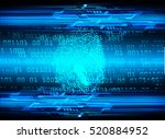 dark blue abstract digital... | Shutterstock .eps vector #520884952