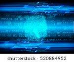 Dark Blue Abstract Digital...