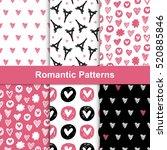 vector romantic seamless... | Shutterstock .eps vector #520885846
