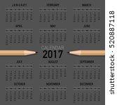 2017 calendar planner  vector... | Shutterstock .eps vector #520887118