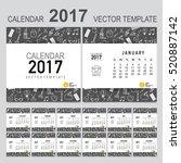 2017 calendar planner  vector... | Shutterstock .eps vector #520887142