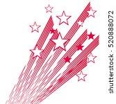red fireworks and stars. vector ... | Shutterstock .eps vector #520888072