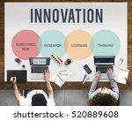 innovation start up creative... | Shutterstock . vector #520889608
