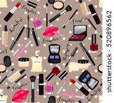 makeup  perfume  cosmetics... | Shutterstock .eps vector #520896562