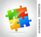 illustration of abstract jigsaw ... | Shutterstock .eps vector #520898536