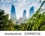 view of the baku towers from... | Shutterstock . vector #520900726