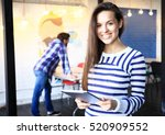 modern business woman in the... | Shutterstock . vector #520909552