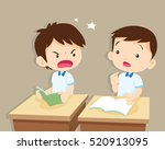 quarreling kids. angry boy... | Shutterstock .eps vector #520913095