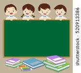 back to school illustration... | Shutterstock .eps vector #520913386