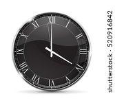 clock. 4 o'clock. roman... | Shutterstock .eps vector #520916842