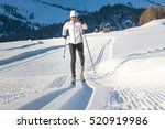 cross country skiing classic... | Shutterstock . vector #520919986