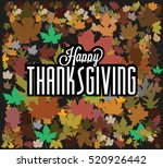 happy thanksgiving background... | Shutterstock .eps vector #520926442