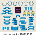 vector collection of decorative ... | Shutterstock .eps vector #520929958