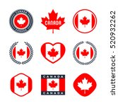 canada  canadian flag  red... | Shutterstock .eps vector #520932262