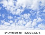 blue sky with clouds  many... | Shutterstock . vector #520932376