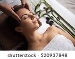 face massage. close up of a...   Shutterstock . vector #520937848