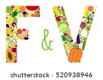 vector letters f and v composed ... | Shutterstock .eps vector #520938946