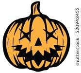pumpkin halloween vector | Shutterstock .eps vector #520943452