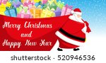 merry christmas and happy new... | Shutterstock .eps vector #520946536