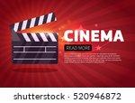 cinema background.movie flyer...   Shutterstock .eps vector #520946872